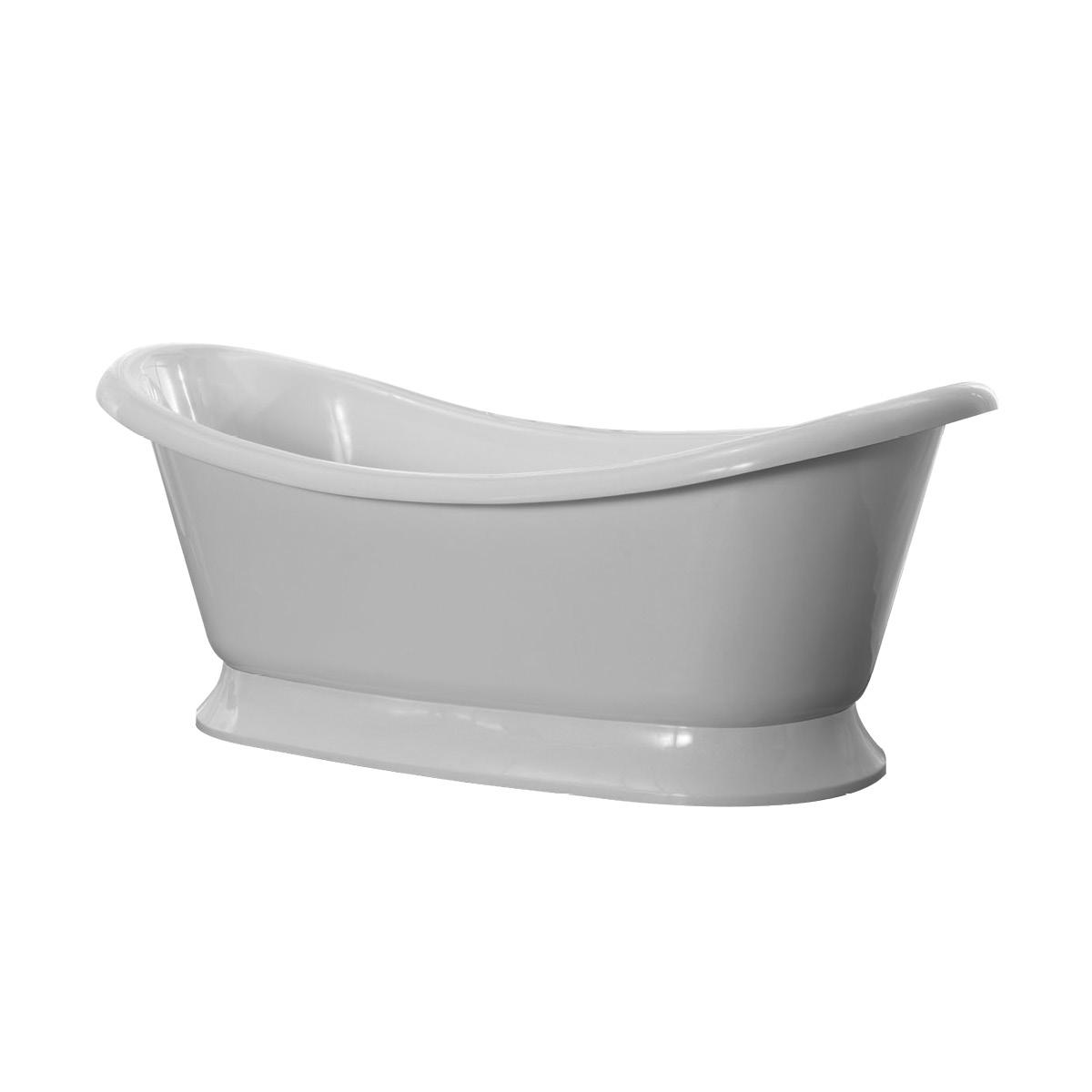 Freistehende Badewanne aus Mineralguss KZOAO-0909