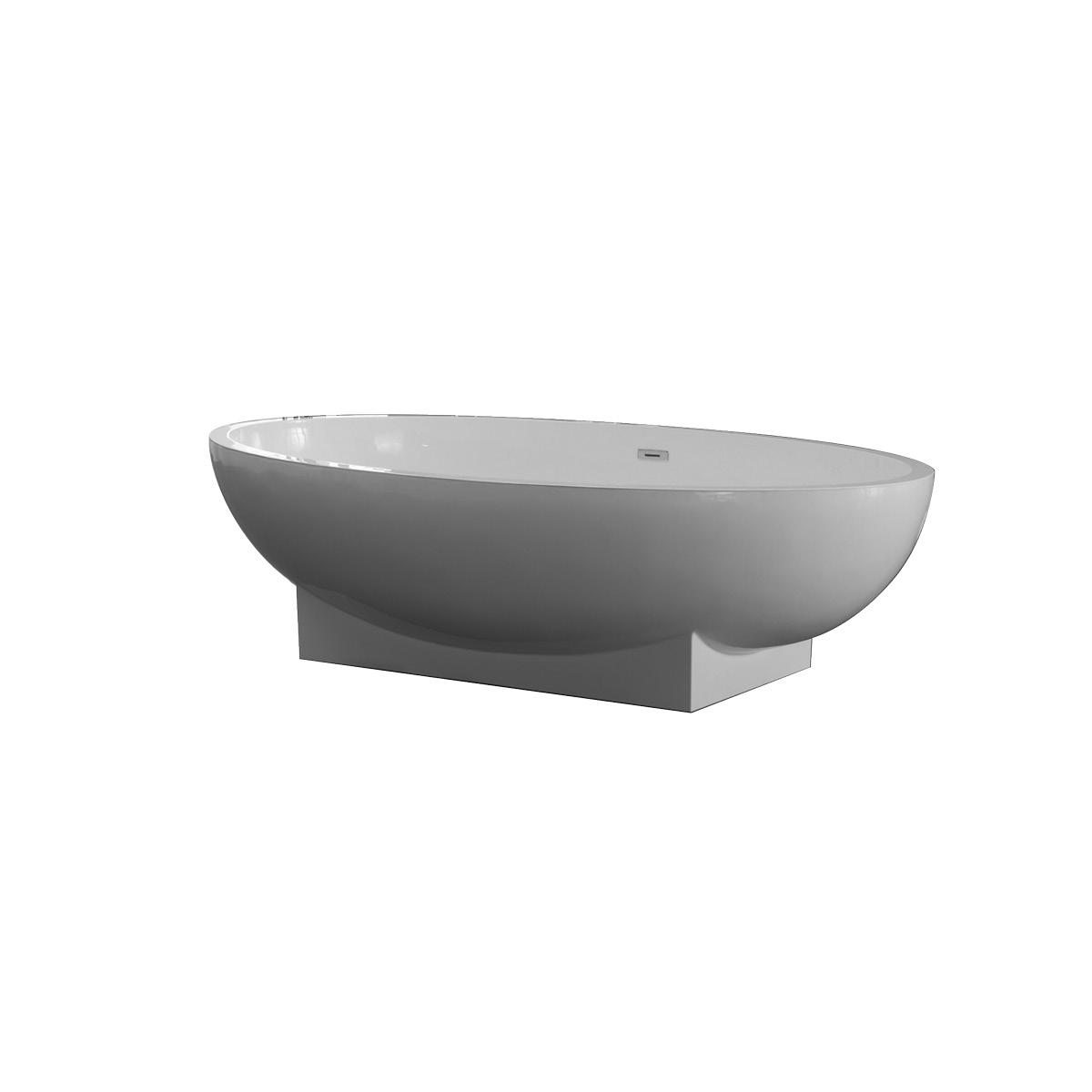 Freistehende Badewanne aus Mineralguss KZOAO-1008