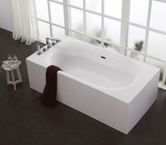 Freistehende Badewanne aus Mineralguss KZOAO-1168