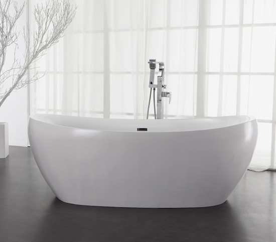 Freistehende Badewanne aus Mineralguss KZOAO-1178