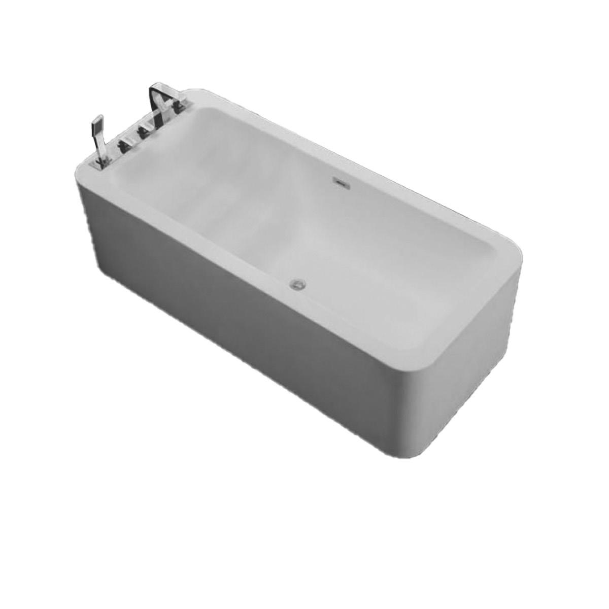 Freistehende Badewanne aus Mineralguss KZOAO-1180