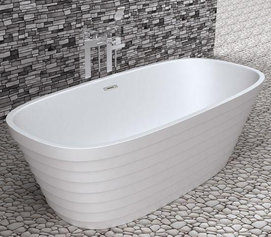 Freistehende Badewanne aus Mineralguss KZOAO-1280 – Bild 2
