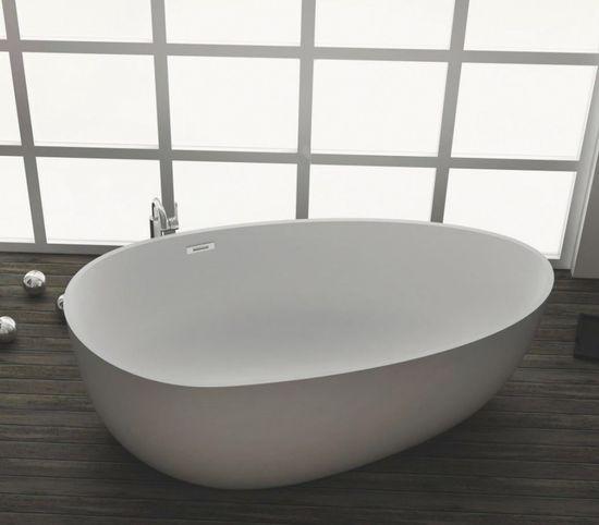 Freistehende Badewanne aus Mineralguss KZOAO-1485