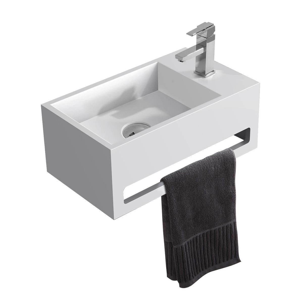 Mineralguss Waschbecken für Gästebadezimmer