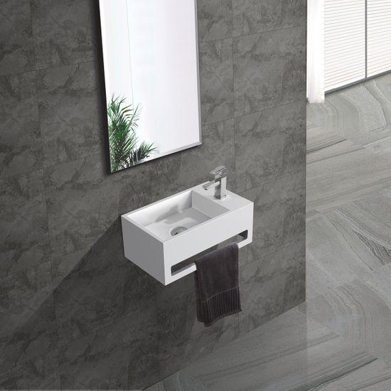 Mineralguss Waschbecken für Gästebadezimmer – Bild 2
