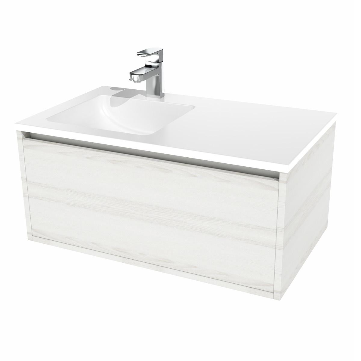 Bern Waschtisch-Set 80 cm Eiche grau