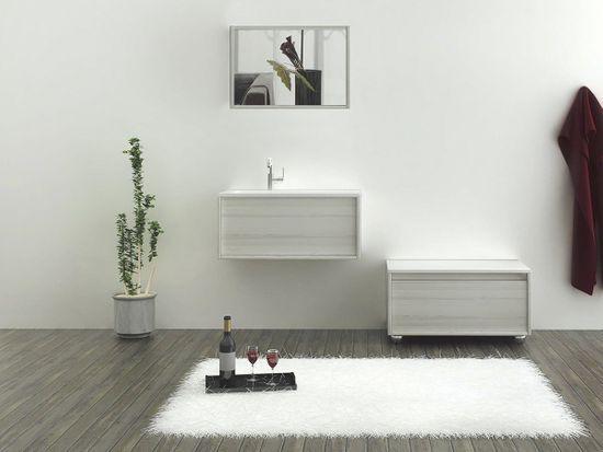 Bern Waschtisch-Set 80 cm Eiche grau – Bild 4