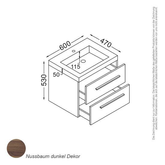 Madrid Waschtisch-Set 60 cm – Bild 2