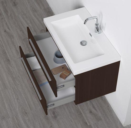 Madrid Waschtisch-Set 80 cm Mokka – Bild 4