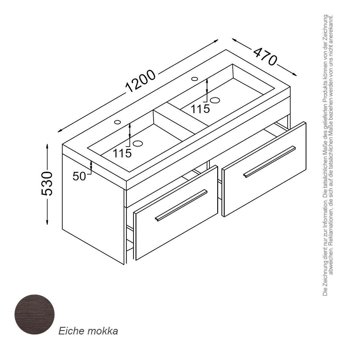 paket] madrid waschtisch-set 120 cm mokka | bad-trends, badmöbel
