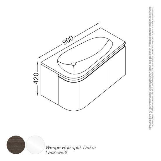 Monaco Waschtisch-Set 90 cm  – Bild 2