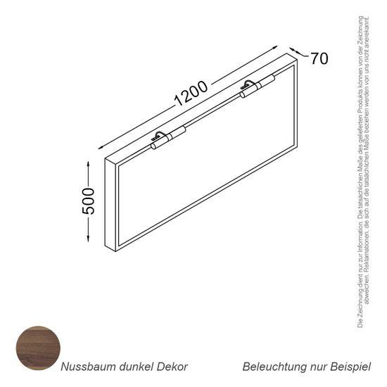 Spiegel 120 cm nussbaum – Bild 2