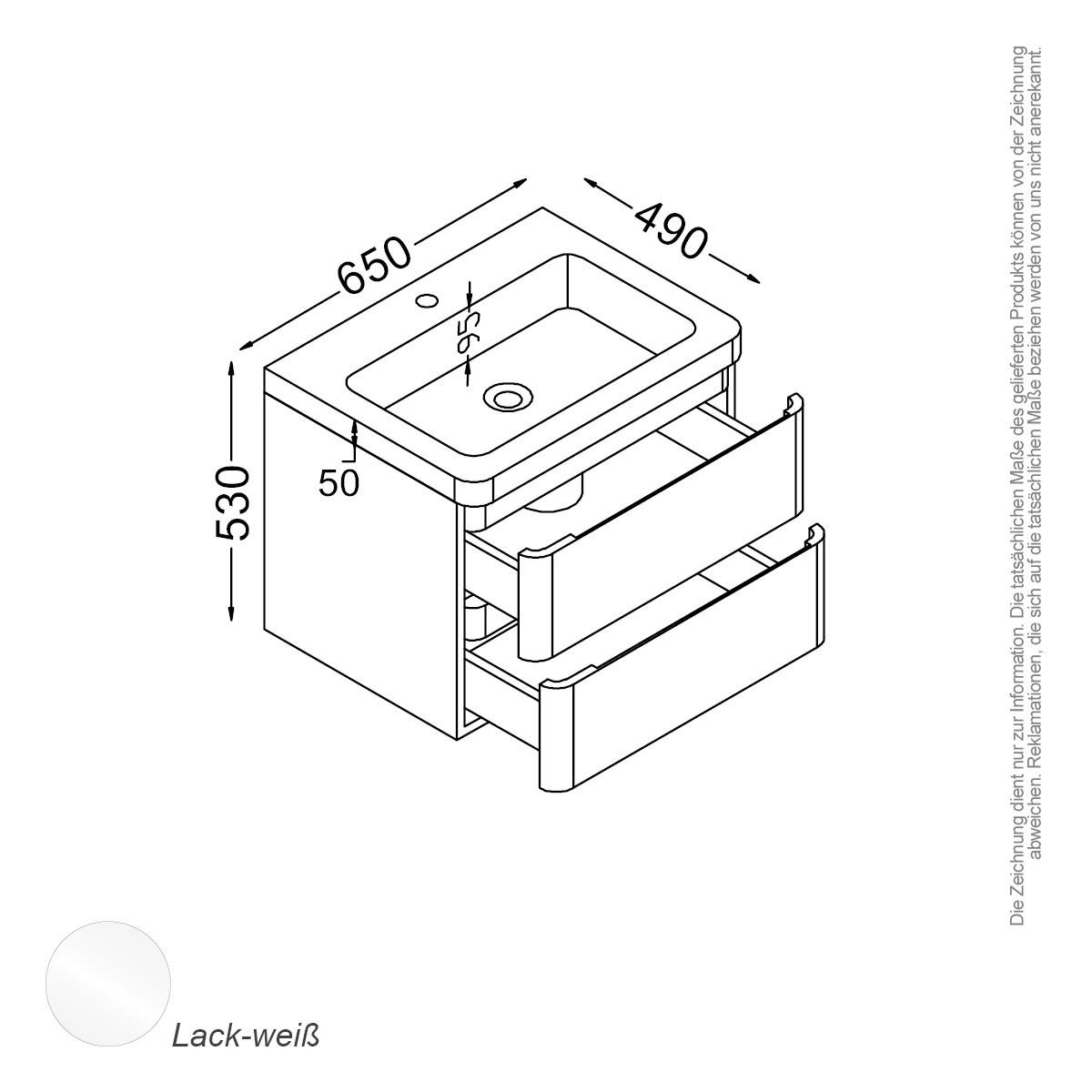 Berlin Waschtisch Set 65 Cm Weiss Bad Trends Badmobel Onlineshop