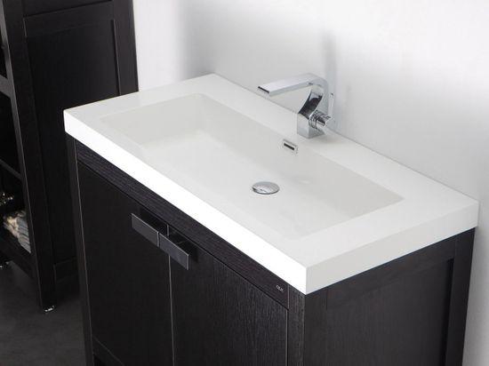 Barcelona Waschtisch-Set 100 cm Eiche schwarz – Bild 4