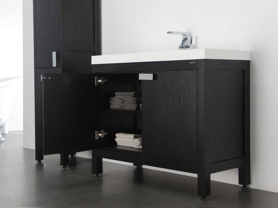 Barcelona Waschtisch-Set 100 cm Eiche schwarz – Bild 6
