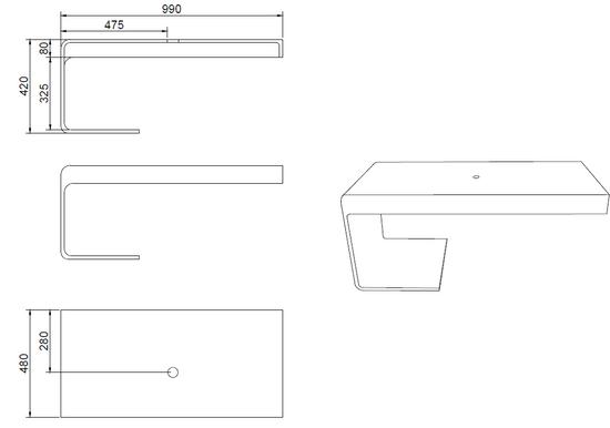 2. Wahl Design Waschtischplatte 1396 – Bild 6