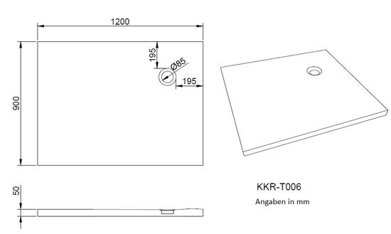 Duschtasse aus Kunststein in 90/120 oder 140x90x5 cm (L/B/H) – Bild 5