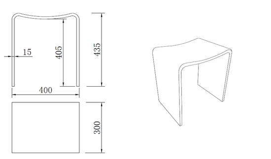 Design Badhocker aus Mineralguss  – Bild 3