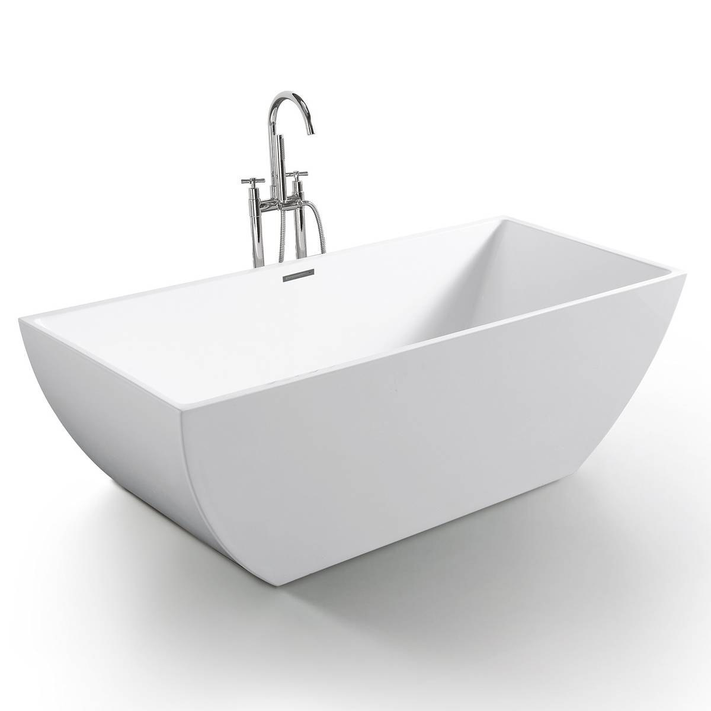 Freistehende Acrylwanne D-8021-170 weiß