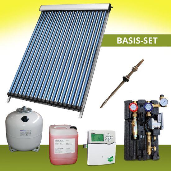 Komplettpaket 6,72 m² Solaranlage Vakuumröhrenkollektor Basis