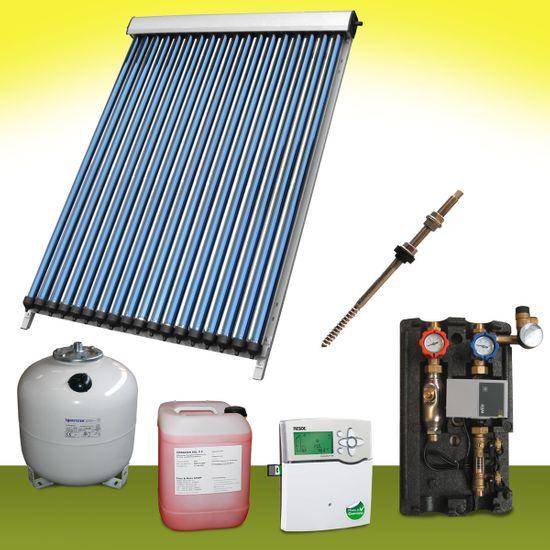Komplettpaket 8,50 m² Solaranlage Vakuumröhrenkollektor Basis