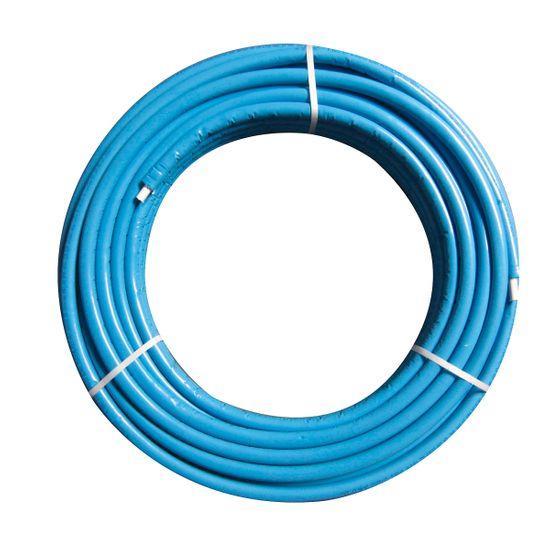 NTM Mehrschichtverbundrohr 16x2 mm PEX/AL/PeX  blauer Isolierung 50 Meter Rolle