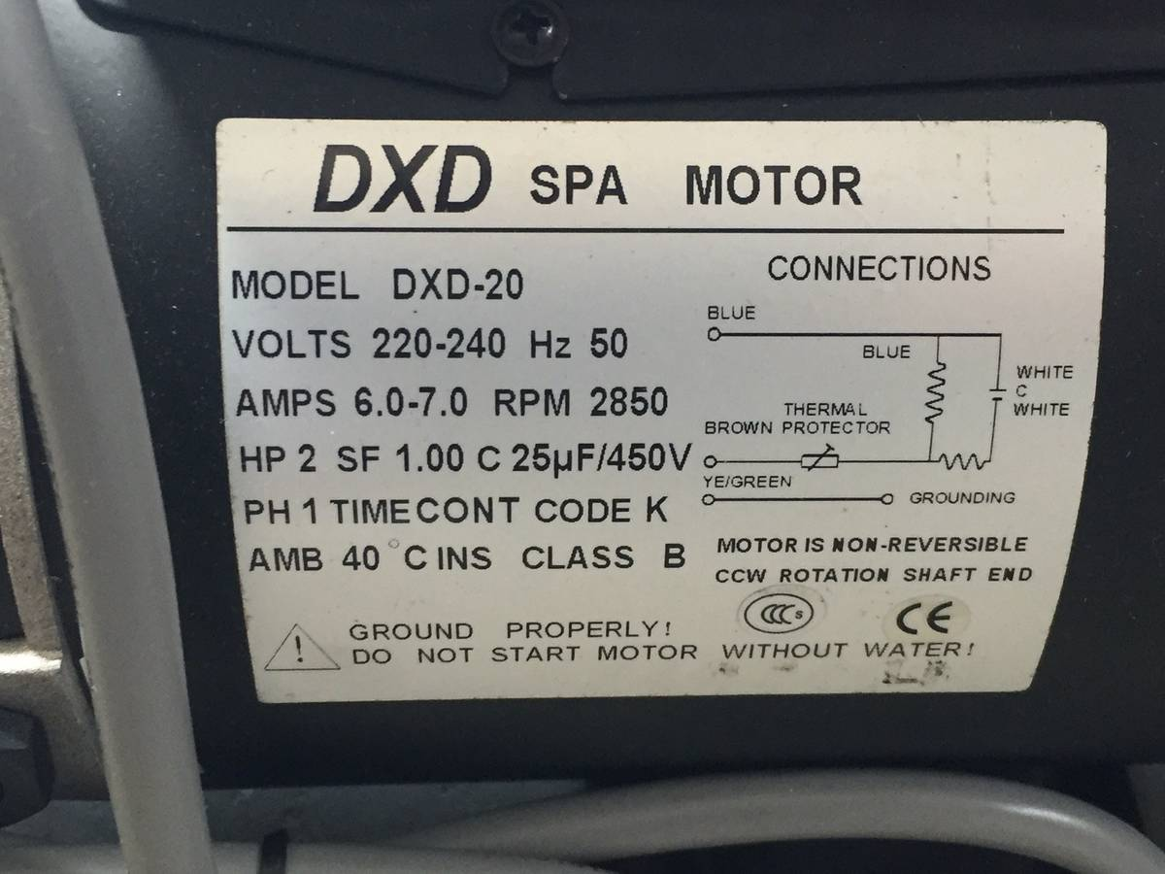 Wasserpumpe DXD 20