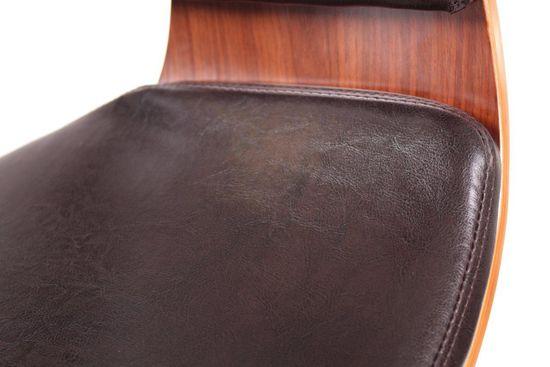Design Barhocker Lounge Hocker Stuhl Barstuhl NEU/OVP Walnussholz/dunkelbraun