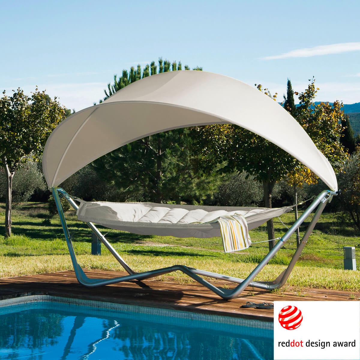 Garten Hängematte: Hängematte Mit Sonnenschutz In Weiß Haus Und Garten Garten